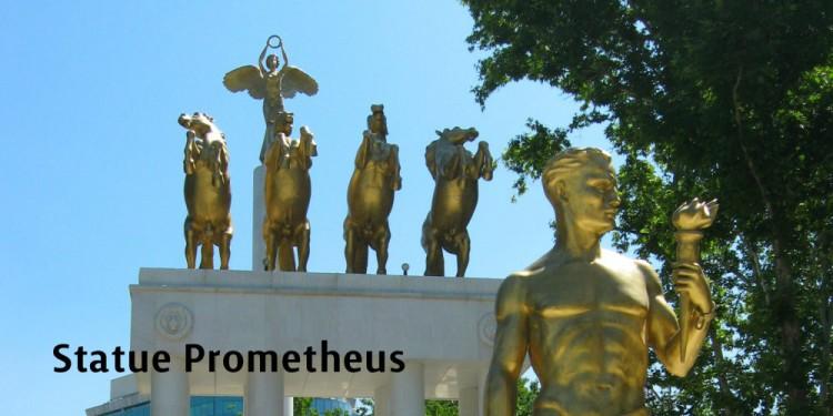 statue prometheus skopje